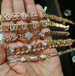 Αποκλειστικό βραχιόλι χρυσών γυναικών