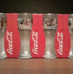 Şarap kadehi koleksiyonu 4 adet Coca-Cola