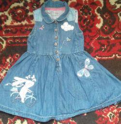 Denim dress, next 1.6-2 years, choir
