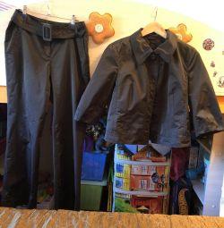 Luisa Cerano, παντελόνι + σακάκι κοστούμι, μέγεθος 44