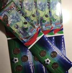 Sets in fifa 2018 booklets (note + 3 coins.