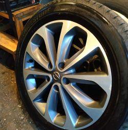Шини і диски гума Nissan Qashqai R18 215/55/18