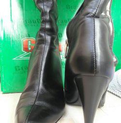 Boots din piele de iarnă Grand Style