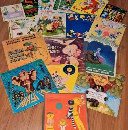 Gramophone records: children's fairy tales, pop and other