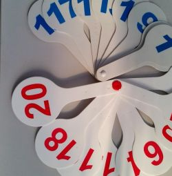 Fan with numbers and letters