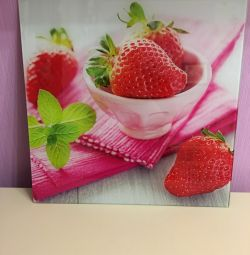 Glass painting Strawberry Decoretto