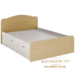 Elsa Κρεβάτι 1.4 με συρτάρια MDF (λευκό / μητέρα μαργαριταριών) KR-912