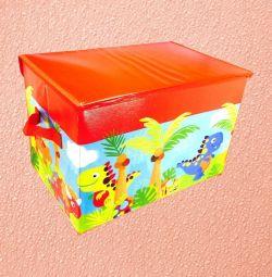 Κουτί αποθήκευσης παιχνιδιών, 37x25x25 εκ