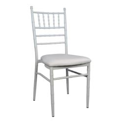 JENNY METALLIC CHAIR WITH WHITE FRAME HM0055.02