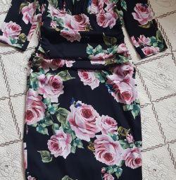 Dolce & gabbana φόρεμα, μετάξι, πρωτότυπο