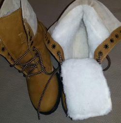 Pantofi de piele pentru femei noi 36-37 р.