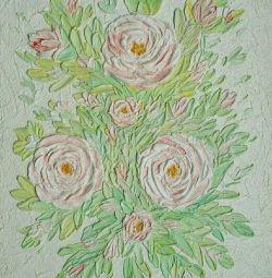 Panorama trandafirilor. Pictura volumetrică.