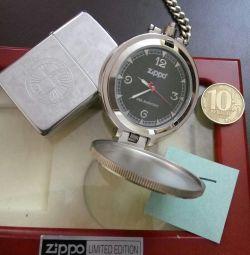 watch and lighter Zippo