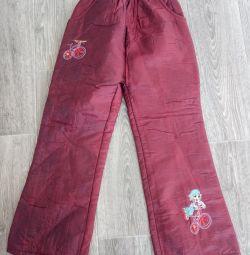 Pants new, warmed