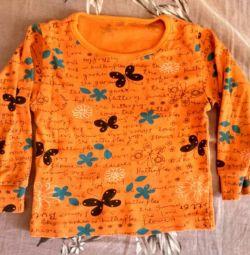 Bir kız için parlak bluz 74-80🐈