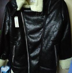 Το παλτό προβάτου NEW για το αγόρι του μεγέθους S