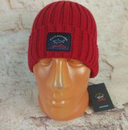 Pălăria de iarnă Paul & Shark (Roșu)