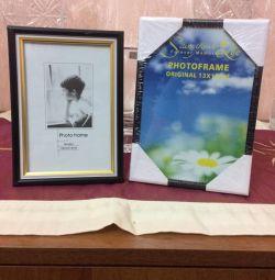 Photo frames, tablecloth, napkins, pillow cases