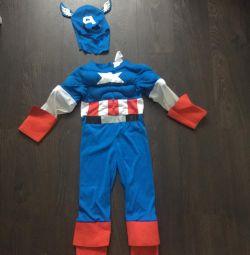 Costum de carnaval Captain America