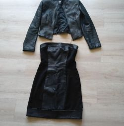 Natural suit jacket and dress