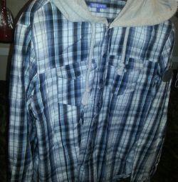 Ανδρικό πουκάμισο με κουκούλα