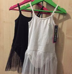 Costume de baie cu fusta pentru gimnastica / dansuri noi