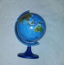 Pământ glob de înălțime fizică 17 cm