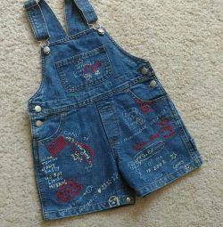 Salopetă pantaloni scurți dimensiunea 86-92