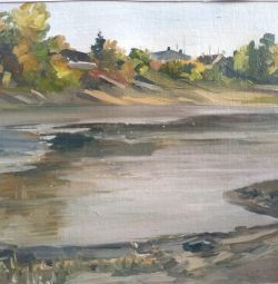 Picture Autumn on the Ob, 30 * 25 oil