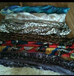 Красивые шарфы и платки