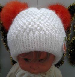 Διπλό καπέλο με 2 χειροποίητα μαστίγια