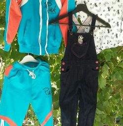 Sports suit. Blouse. Overalls. 12-1-1 cm. 8 years