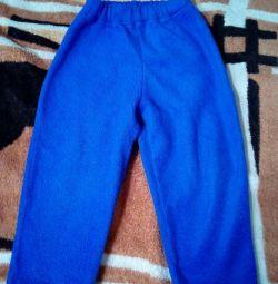 Fleece pantaloni