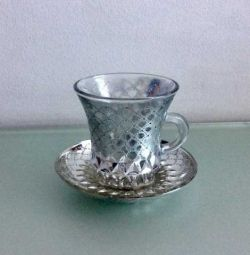 Cup and saucer. Exchange.