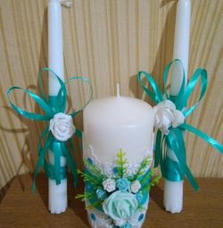 Gift set of candles