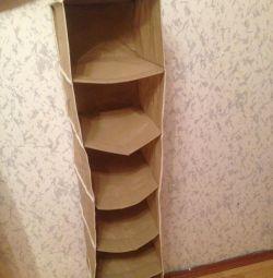 Kofr suspension shelves for storage