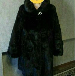 Mink fur coat. Size 56-58.