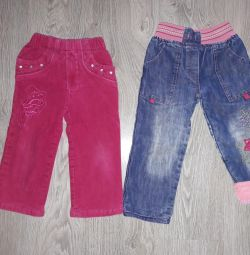 зимние штанишки на девочку