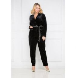 Velvet pantsuit, new, with tags