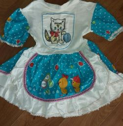 Dress children's with a cat of the USSR