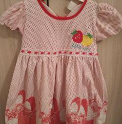 Платье х/б 98