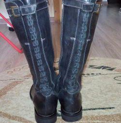 Boots din piele naturală de râu 38,5-39