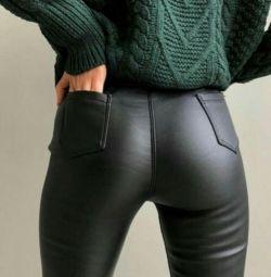 Kadın deri kot