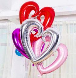 Balloon heart figure with helium