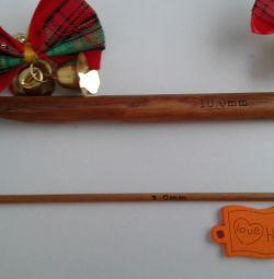 Крючки для вязания из бамбука