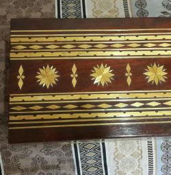 Wooden casket with inlay