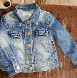Курточка джинсова для дівчинки 2-х років