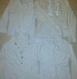 Білі блузи сорочки