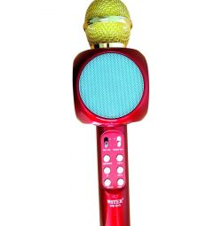 Karaoke microphone WS-1816 (metallic red)