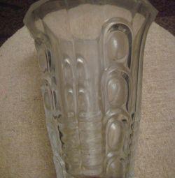 Bulk vase for flowers. Glass.